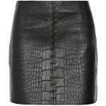 By_Alexander_Wang_Mini_Skirt_With_Leather_Detail_In_Black_Short_Hairstyle_2013