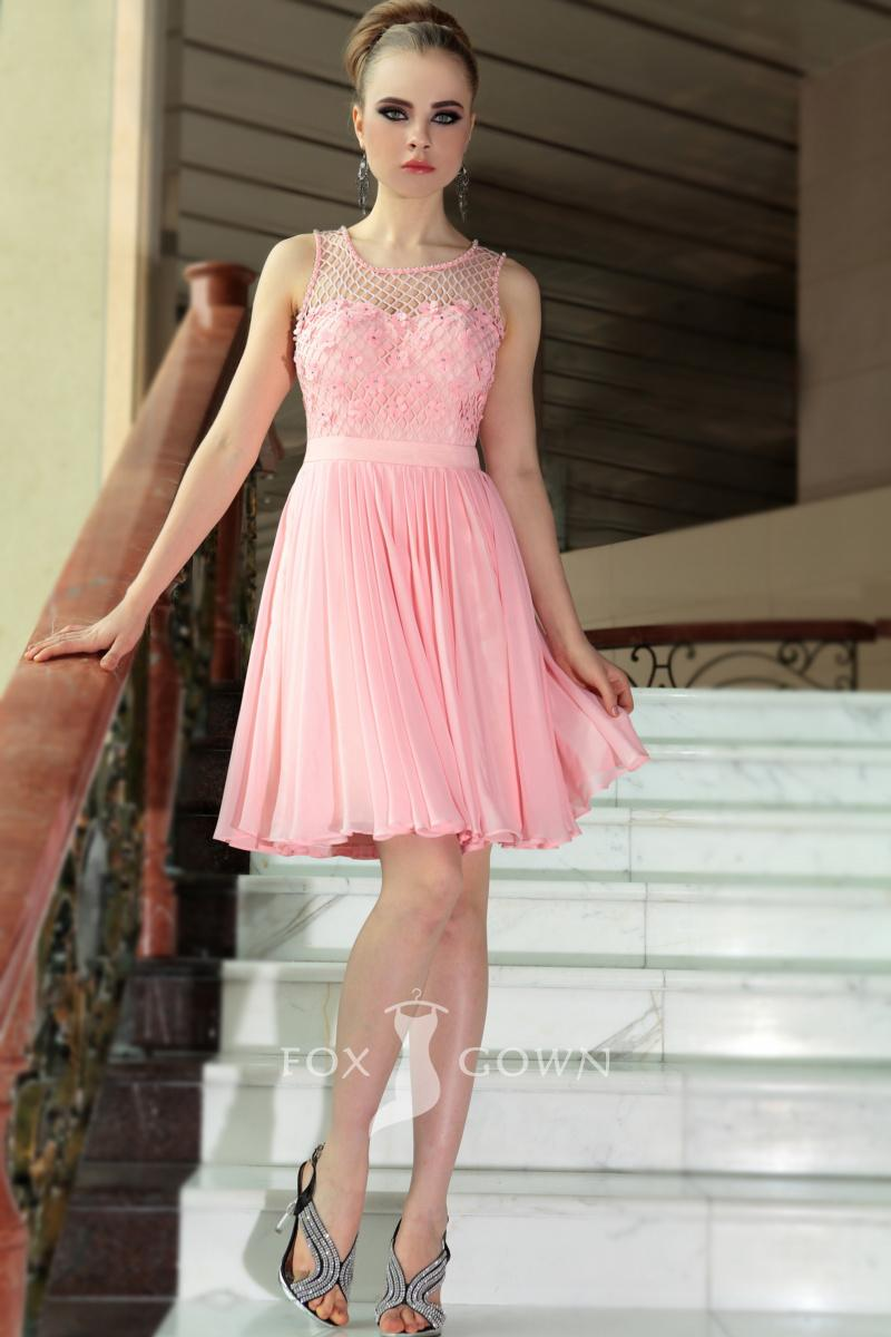 A line skirts knee length 2014 2015 fashion trends 2016 2017 for Pink wedding dress short