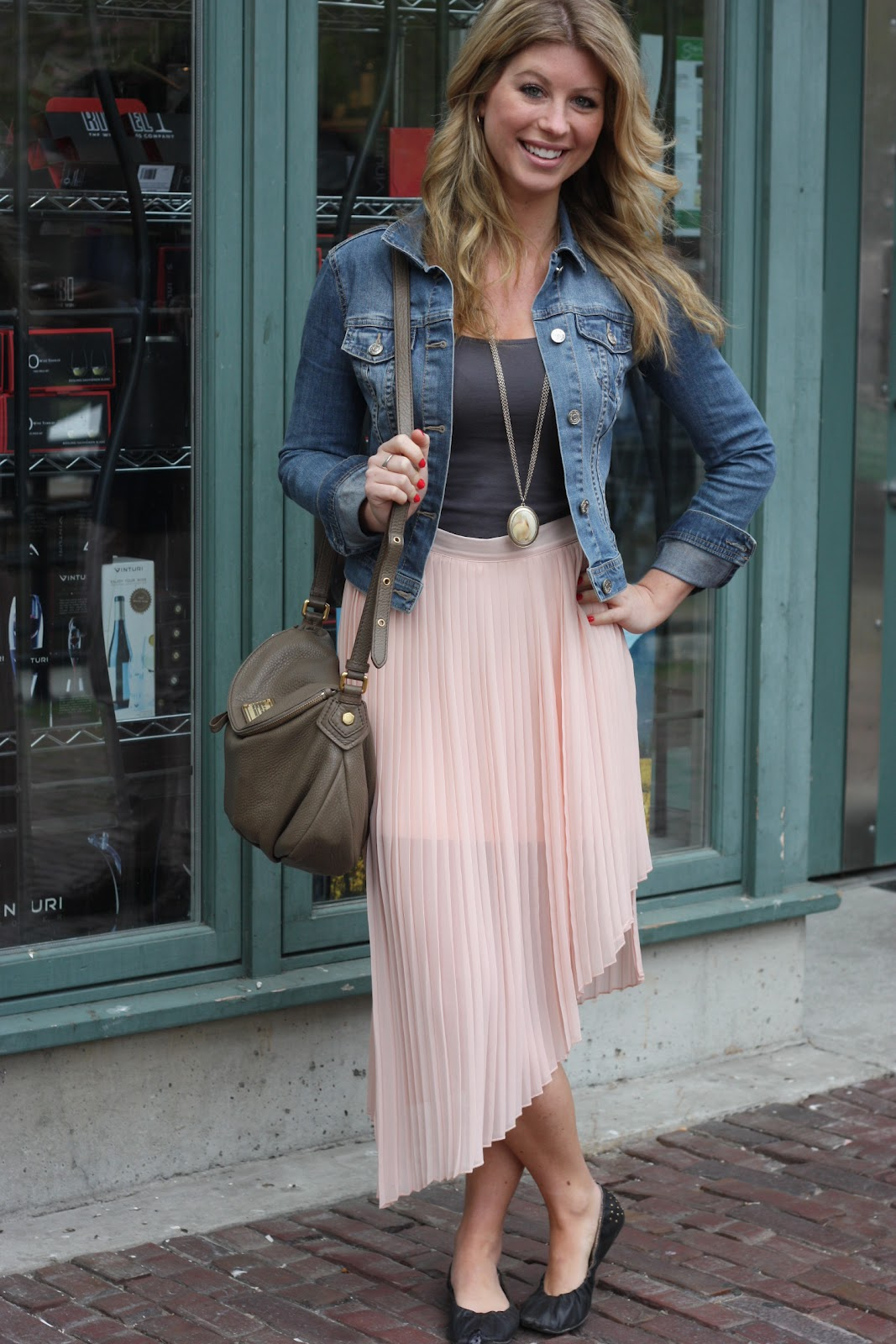 Black Maxi Skirt With Jean Jacket | Shopping Guide. We Are ...