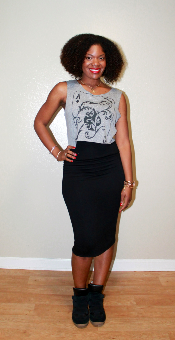 The Gallery For --u0026gt; Black Pencil Skirt Casual
