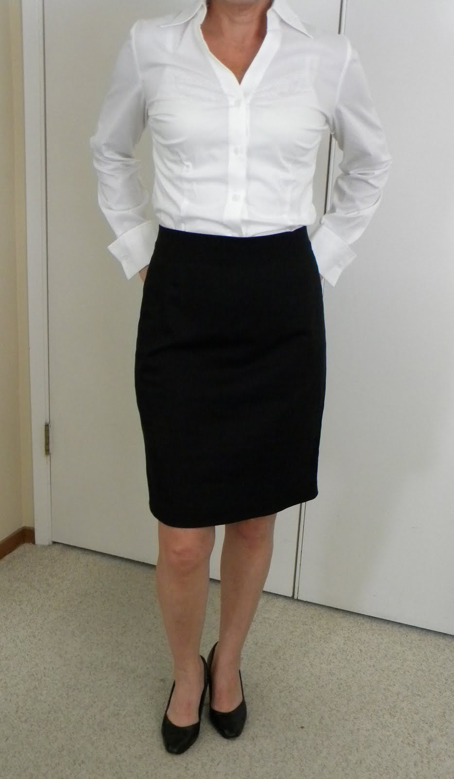 White Blouse For Pencil Skirt 36