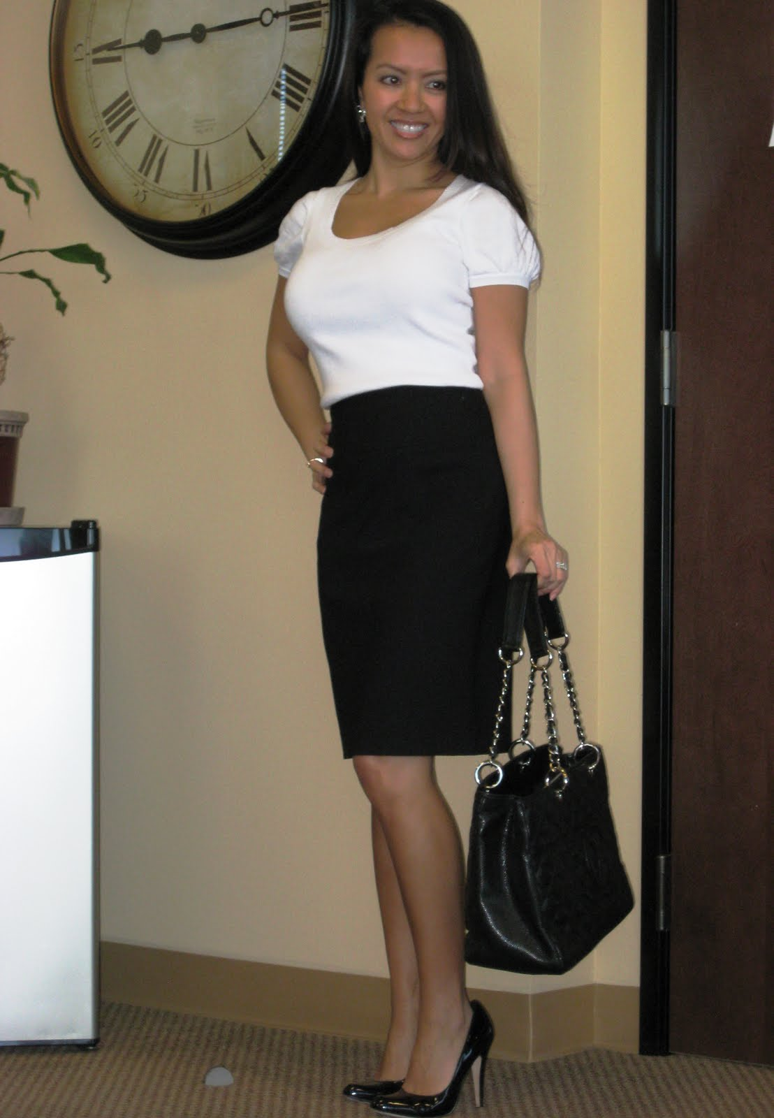 White Blouse For Pencil Skirt 77