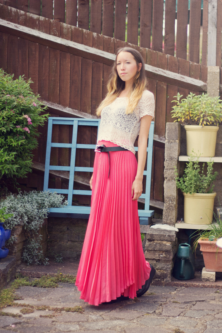 chiffon maxi skirt with top 2014 2015 fashion trends