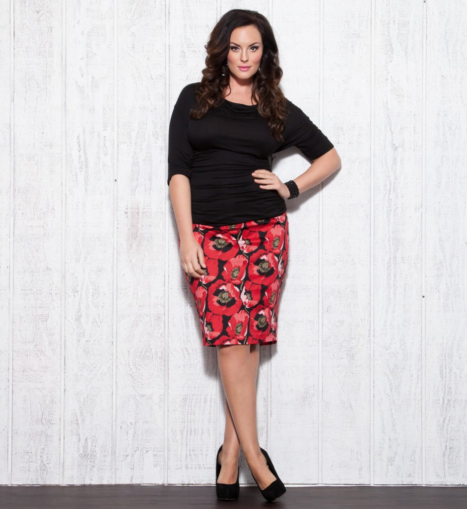 Denim Pencil Skirt Plus Size
