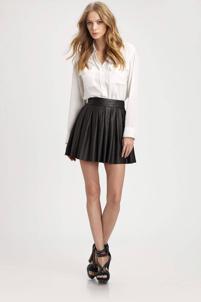faux leather skirt forever 21 2014 2015 fashion trends
