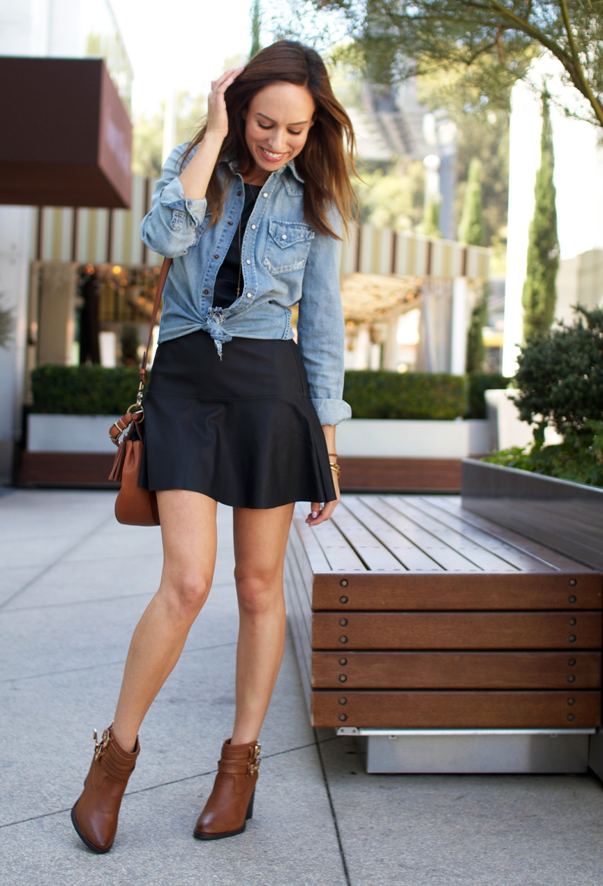 faux leather skirt outfit ideas 2014 2015 fashion trends 2016 2017. Black Bedroom Furniture Sets. Home Design Ideas