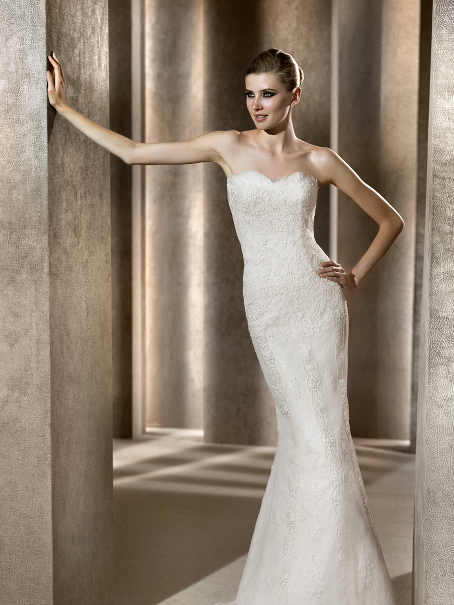 Form fitting wedding dresses pinterest 2014 2015 fashion for Best wedding dress stores in los angeles