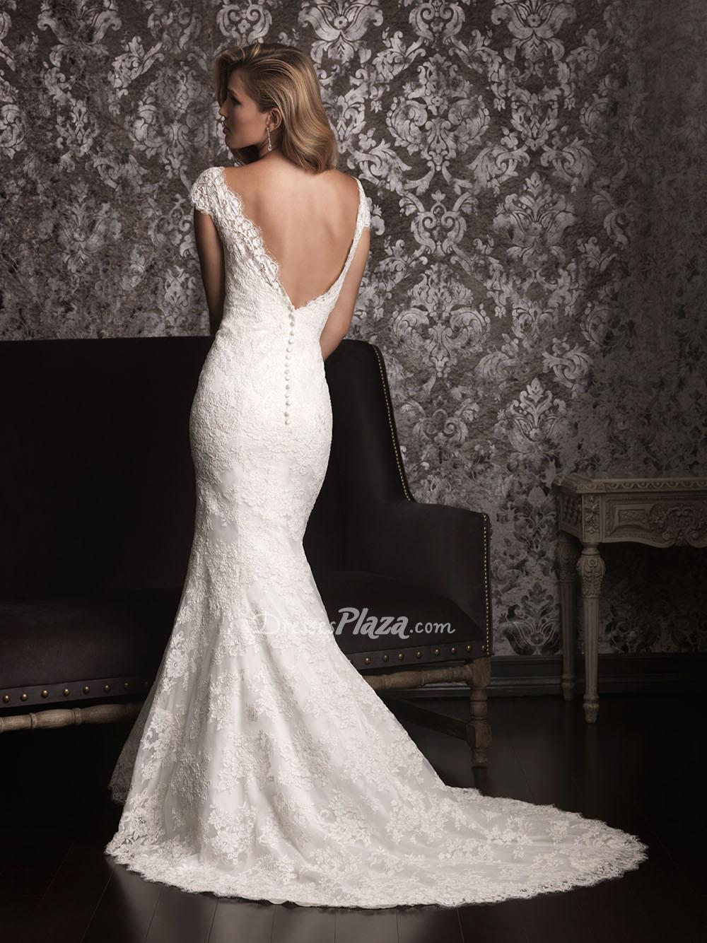 Form fitting wedding dresses with sleeves 2014 2015 for What to wear to a wedding dress fitting