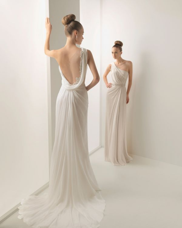 Grecian Wedding Dress Backless 2014 2015