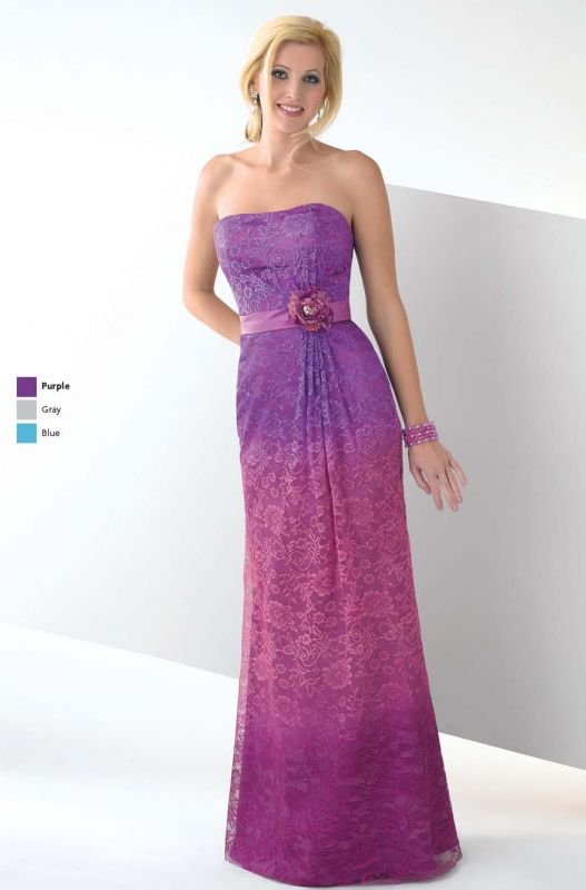 Grey bridesmaid dresses with purple flowers 2014 2015 for Purple and grey wedding dresses