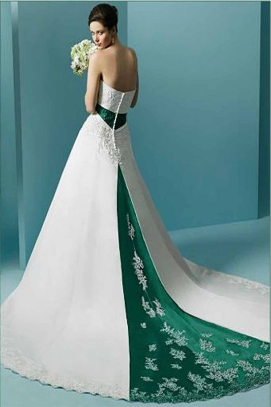 Halter Wedding Dresses With Color 2014 2015