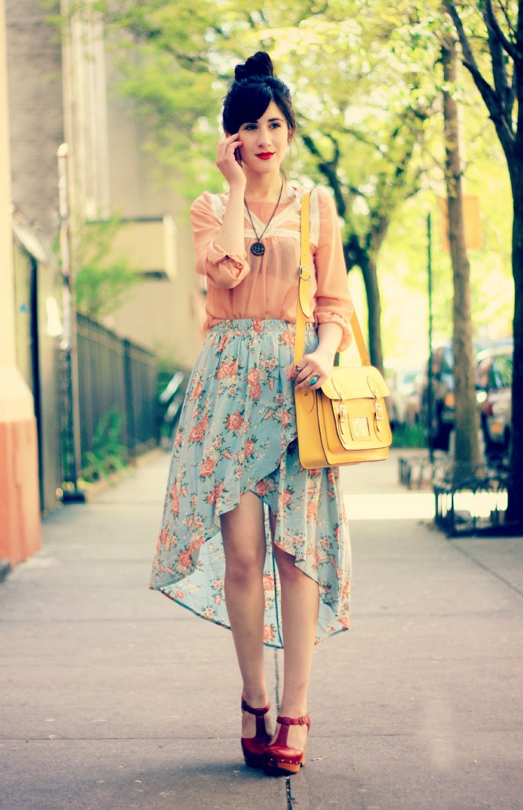 High Low Skirts Floral 2014-2015 | Fashion Trends 2016-2017