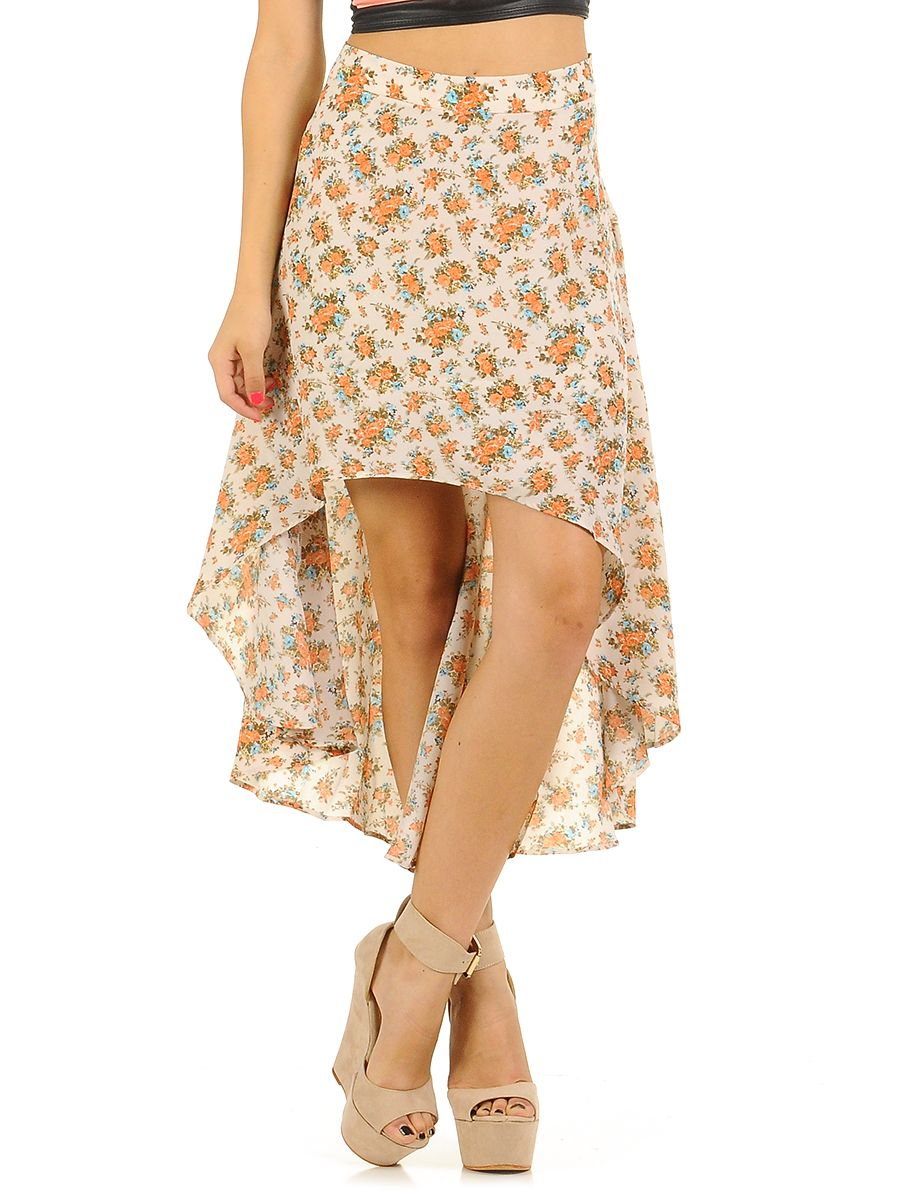 high low skirts floral 2014 2015 fashion trends 2016 2017