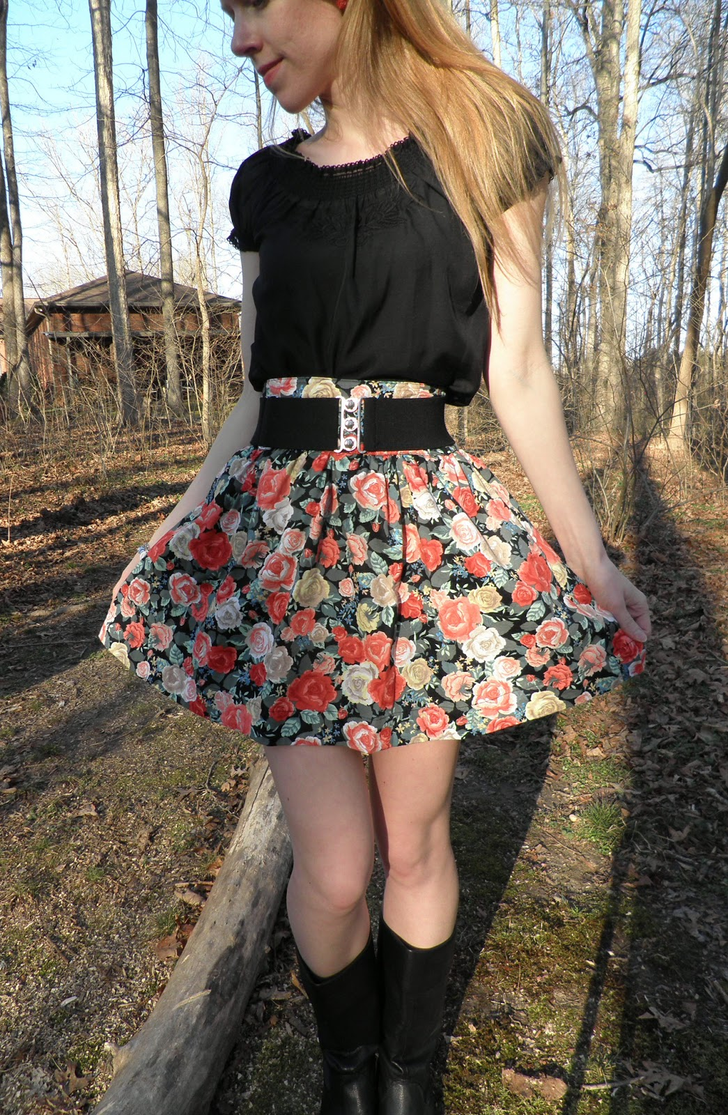 High Waisted Skirt Outfits Tumblr 2014-2015