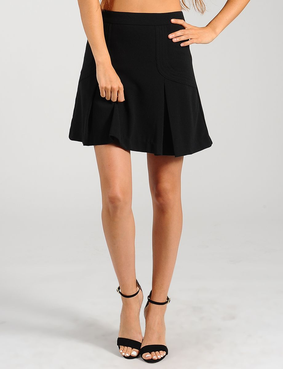 the gallery for gt black pleated school skirt