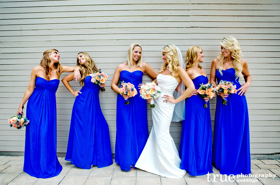 Bridesmaids dresses alongside color pizazz and shift tell off photos