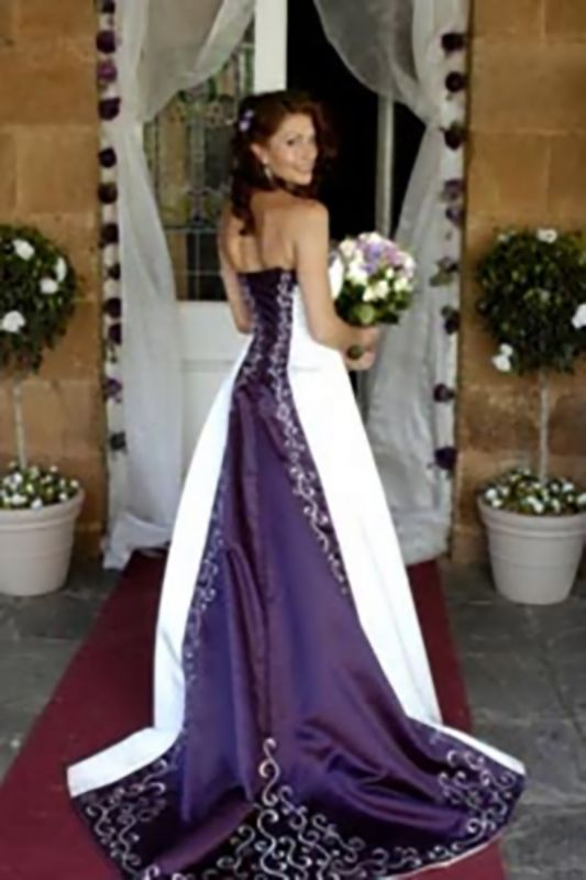 Wedding Dresses Trimmed In Purple 27