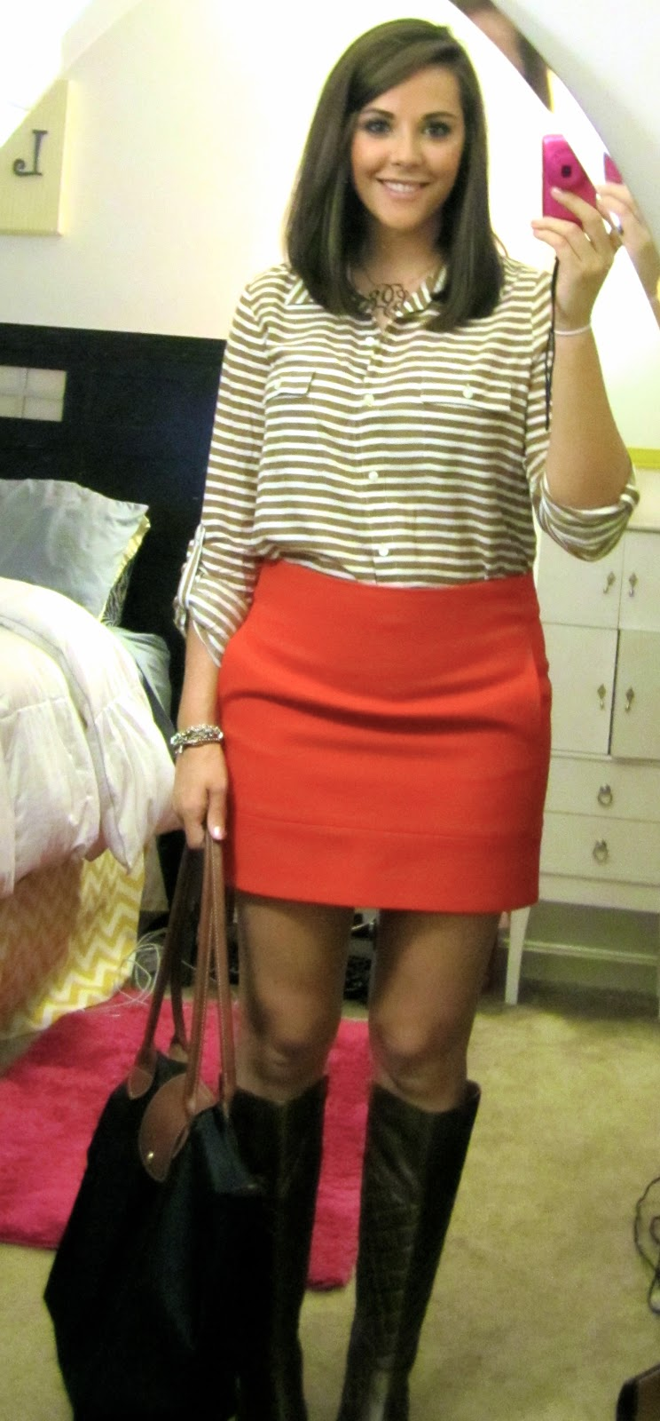 knee length skirts with boots 2014 2015 fashion trends