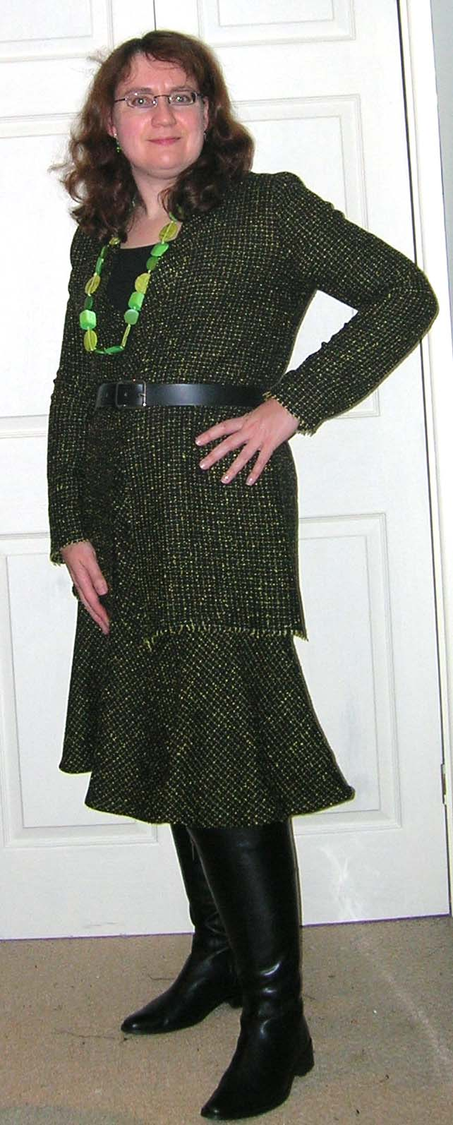 knee high boots with skirts