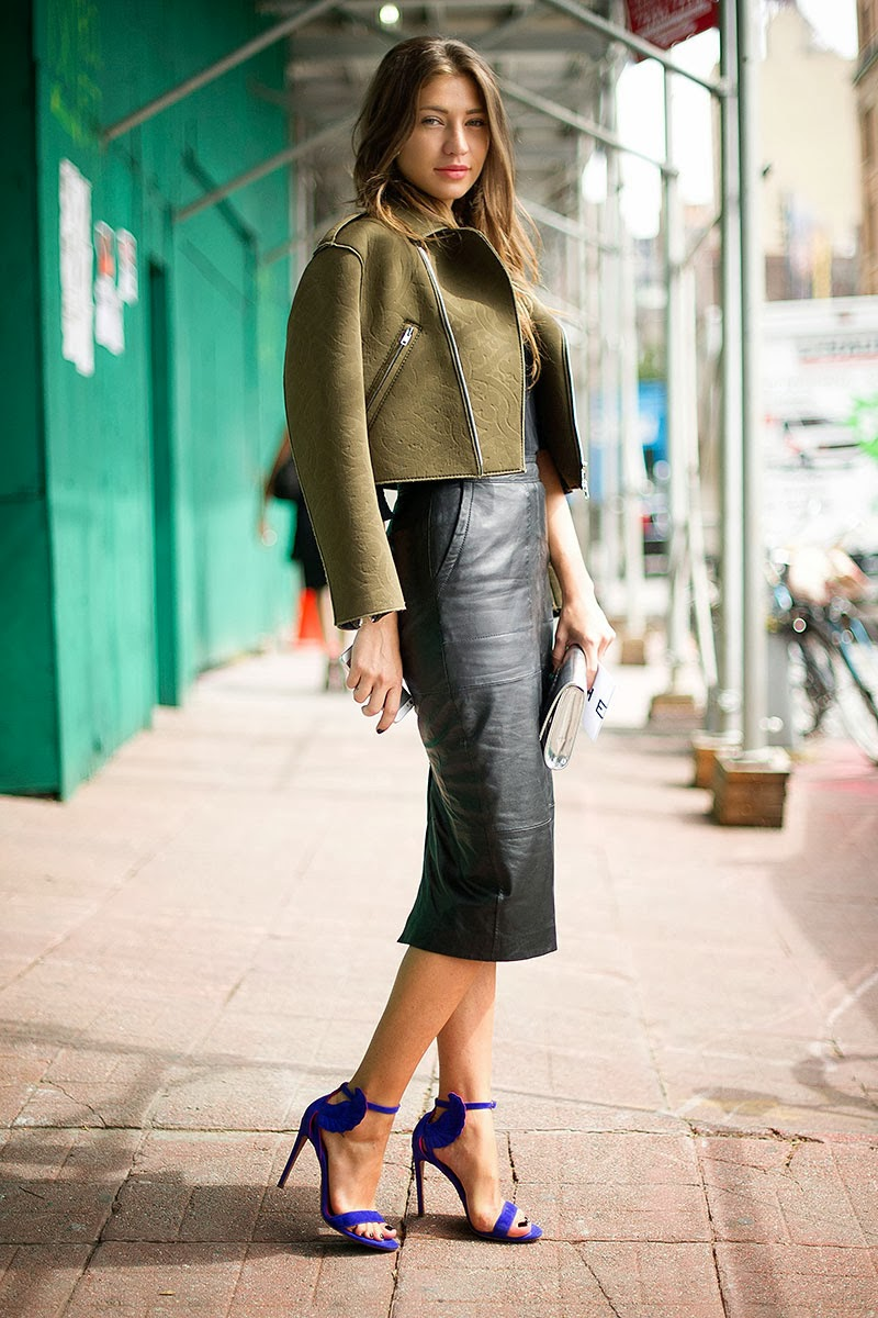Leather Pencil Skirt Styling 2014-2015