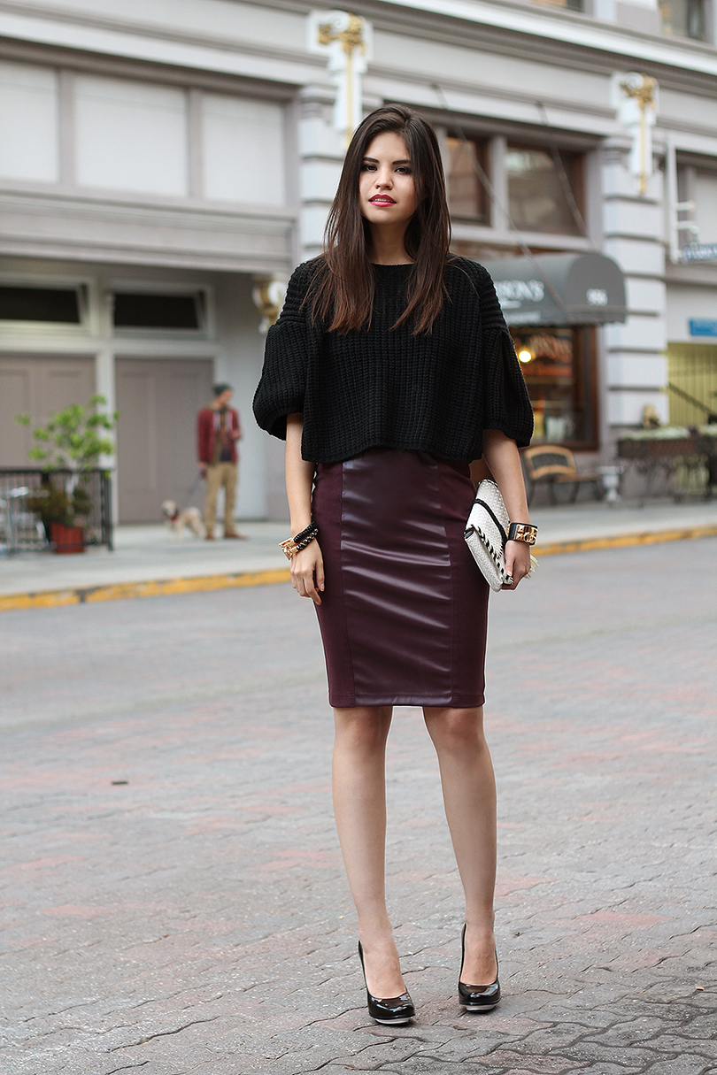 leather pencil skirt trend 2014 2015 fashion trends 2016