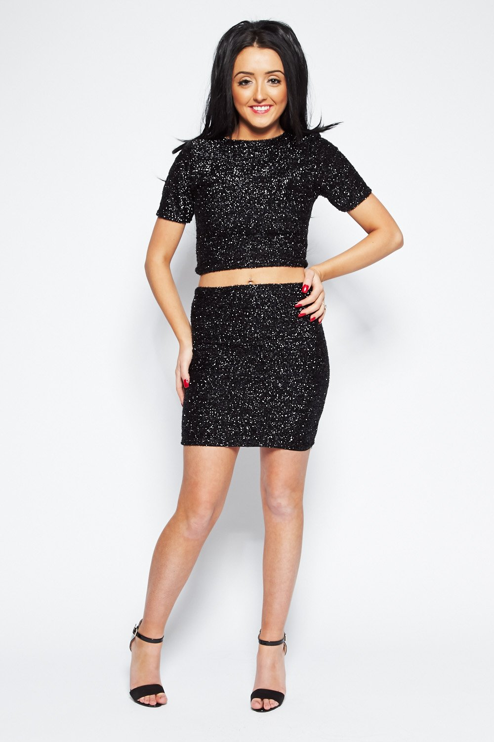 If a crop top skirt set isn't your thing, go for co ords with a two piece bodycon or a two piece bandage dress with a longer top. Trust us, the 2 piece bandage set is the hottest of all the 2 piece dress sets!