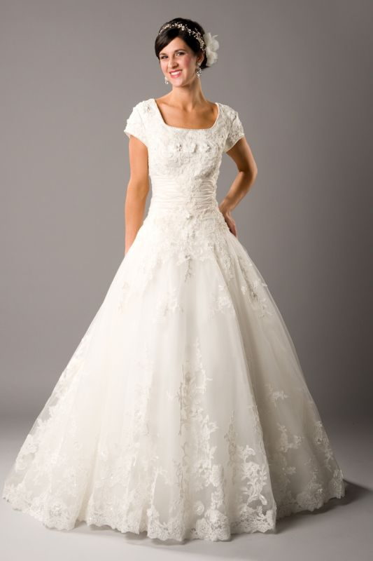 Modest wedding dresses lds 2014 2015 fashion trends 2016 for Mormon modest wedding dresses