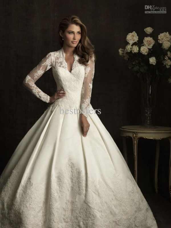 Modest Wedding Dresses With Long Sleeves 2014 2015 Fashion Trends 2016 2017