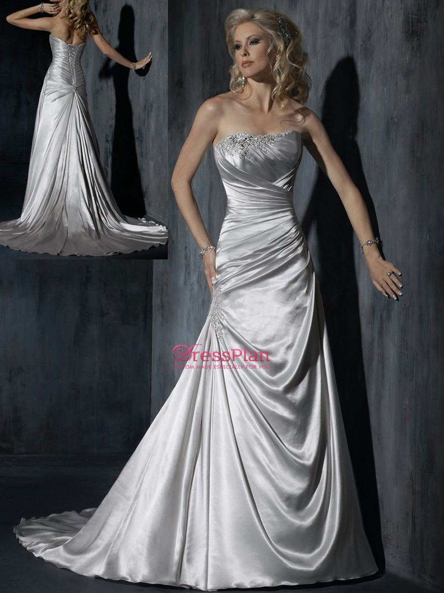 Mother of bride dresses silver 2014 2015 fashion trends for Silver beaded wedding dress