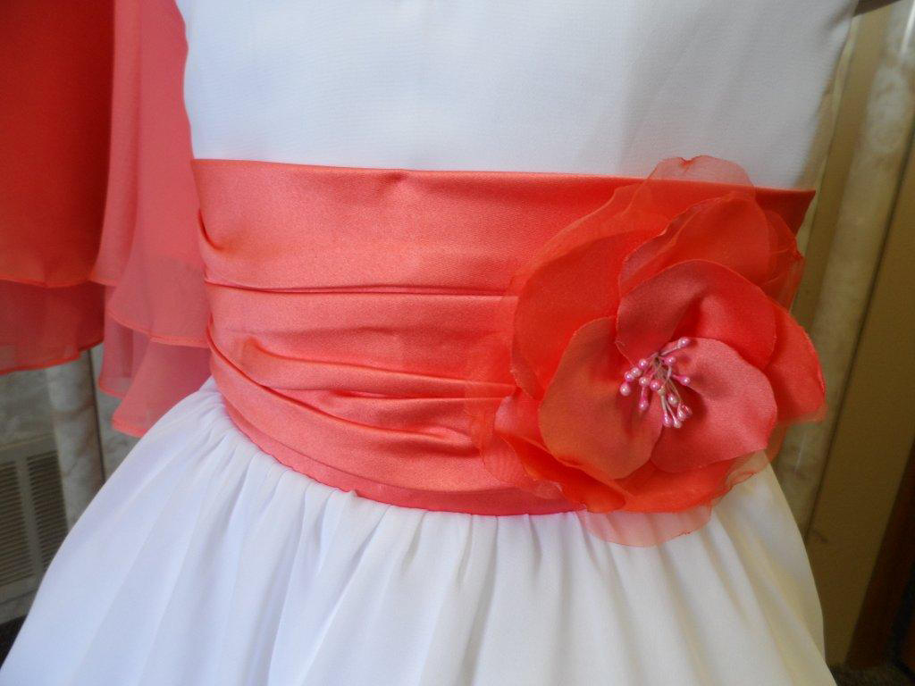 8bf9357d3bc9a Coral And Navy Blue Flower Girl Dresses