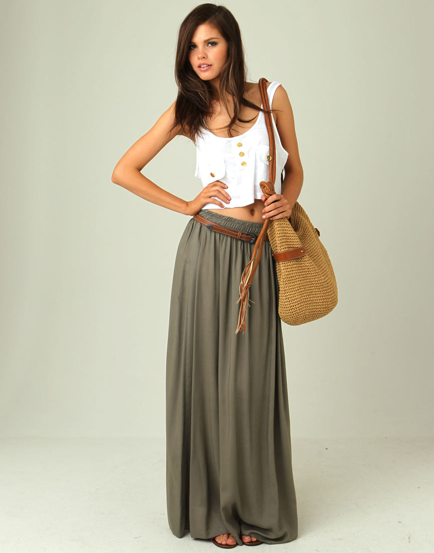 Pleated Maxi Skirt Outfit Shopping Guide We Are Number