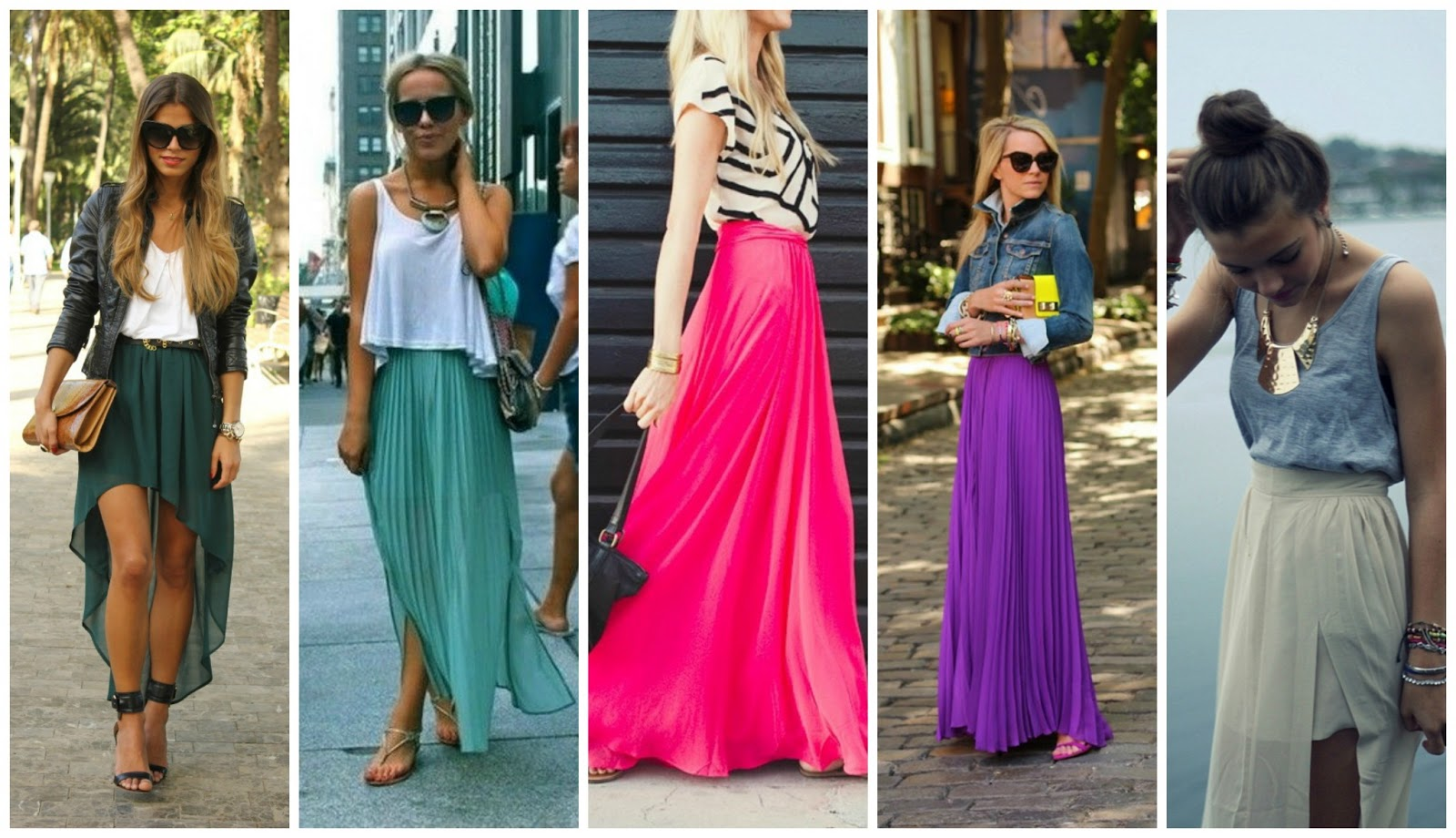 pleated maxi skirt ideas 2014 2015 fashion trends