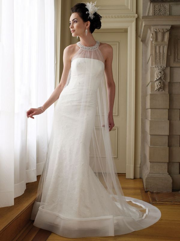 Plus Size Halter Wedding Dresses With Color 2014 2015