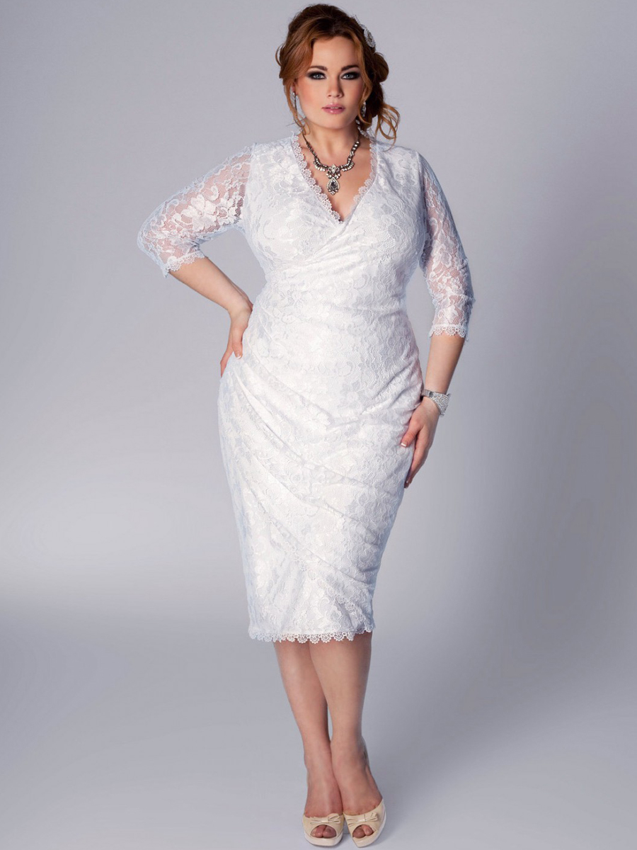 Plus size lace dresses for