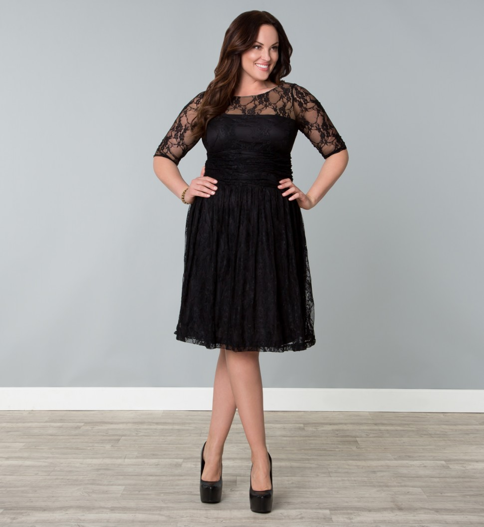 Size Plus lace dresses for women pictures new photo