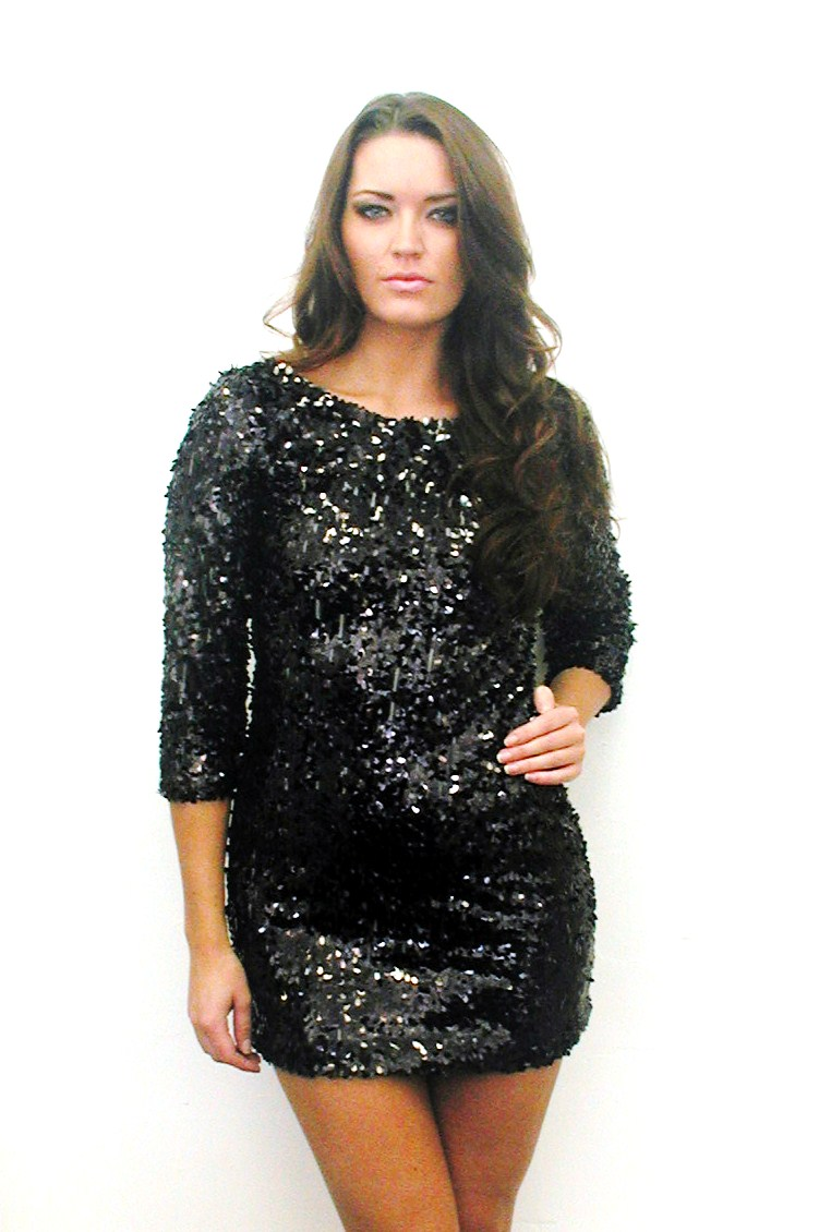 PLUS SIZE SEQUIN DRESS - Kapres Molene