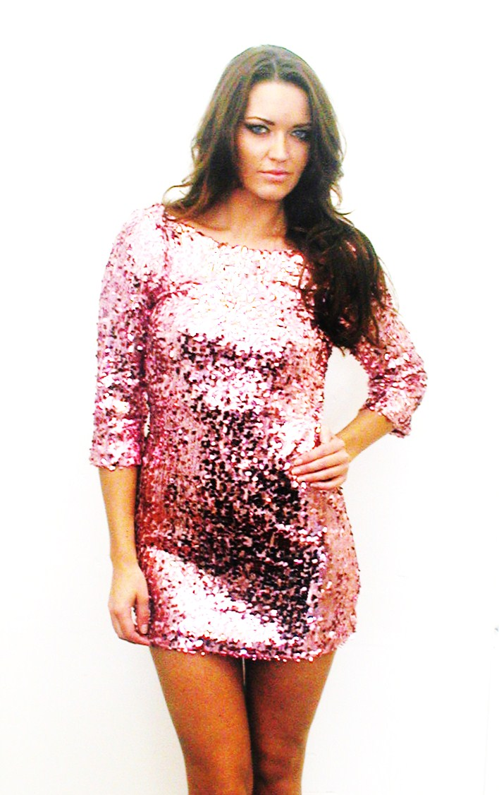 Plus Size Sequin Dress With Sleeves 2014-2015 | Fashion Trends 2016-2017
