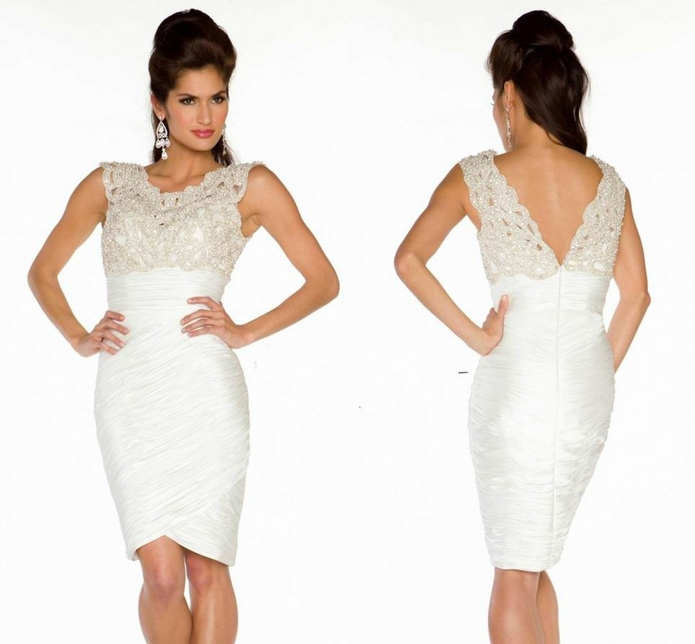 White Cocktail Dresses In Plus Size 38