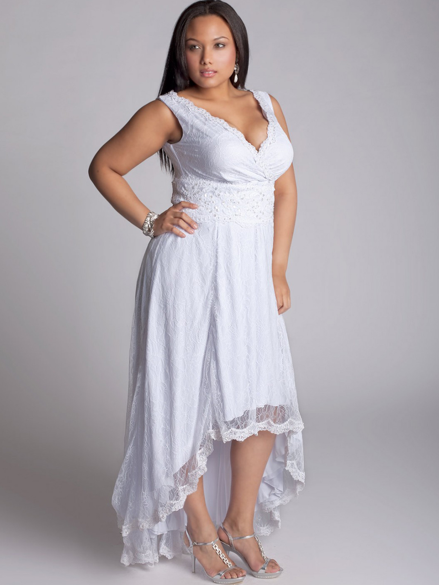 Wpid Plus Size White Dresses Tail 2017 Cute