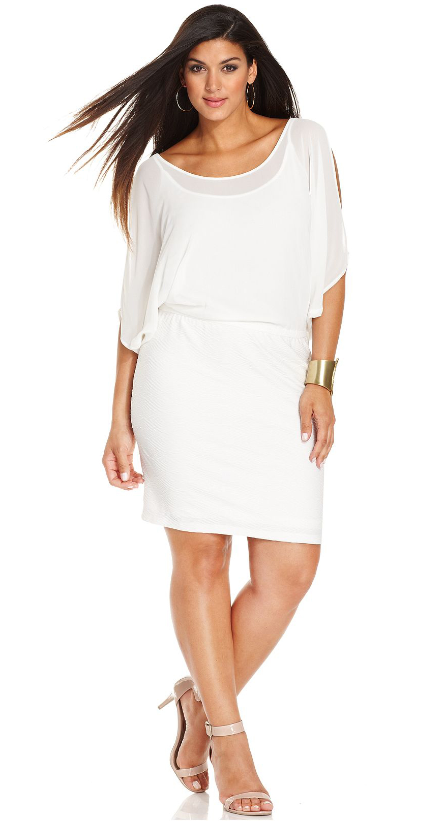 Plus Size White Dresses Macy 2014-2015