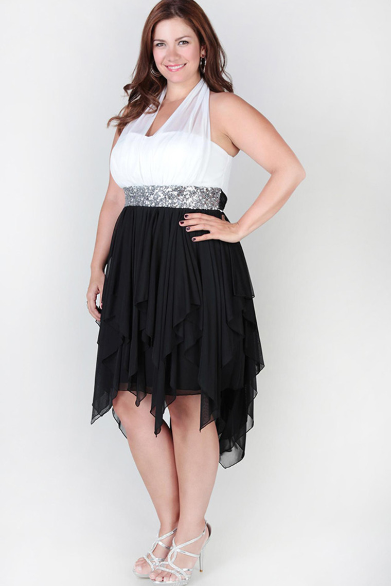 Black And White Dresses Plus Size