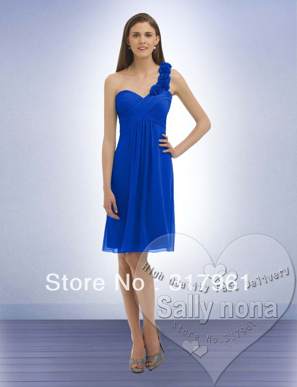 Discount Army Unhappy Jacinth Turquoise Redden Untrained A particular    One Shoulder Royal Blue Bridesmaid Dresses