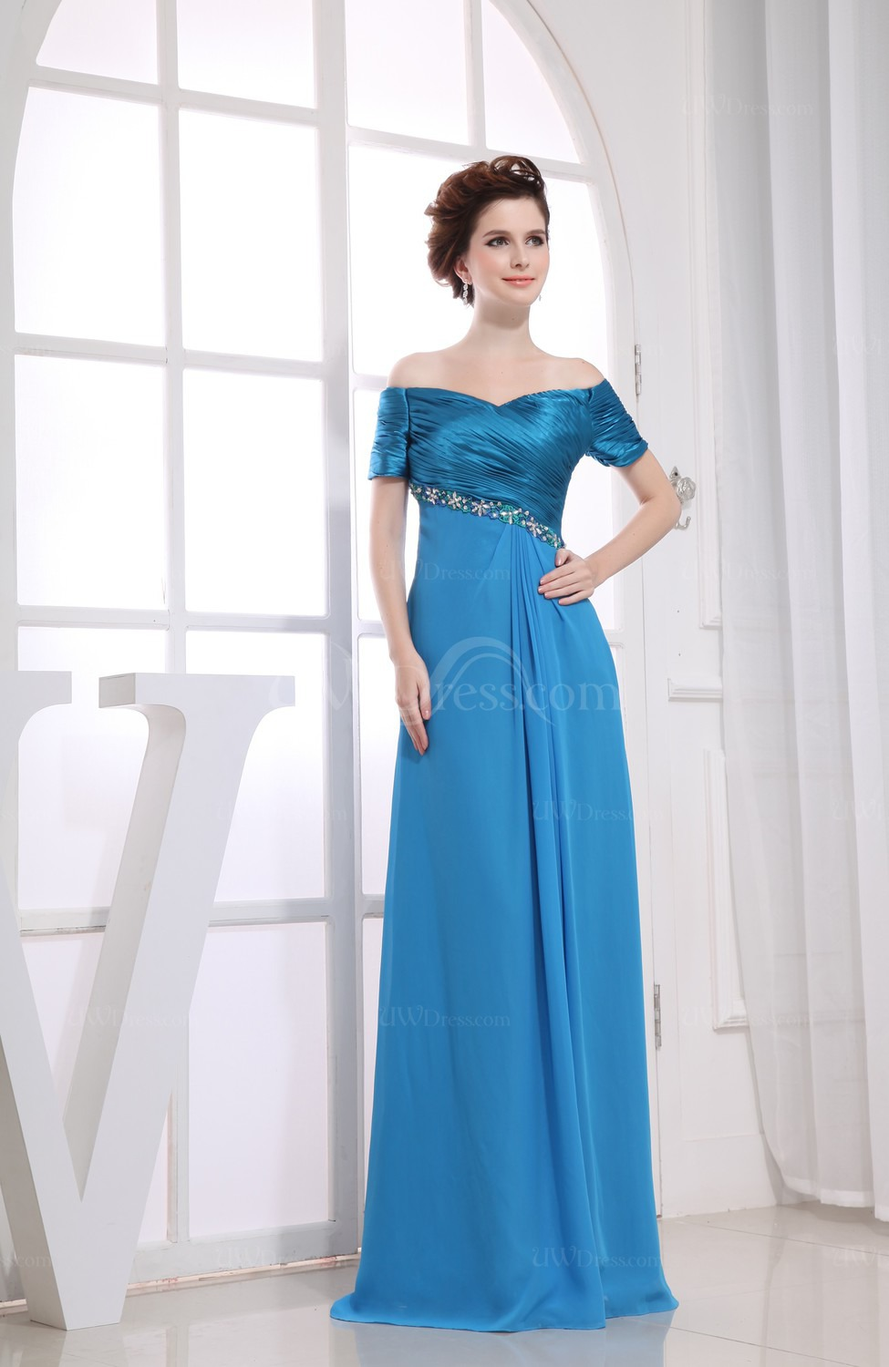 Royal blue bridesmaid dresses with sleeves 2014 2015 for Blue wedding dress with sleeves