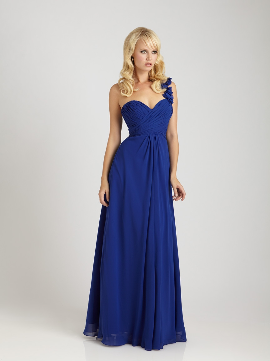 royal blue bridesmaid dresses with straps 2014 2015
