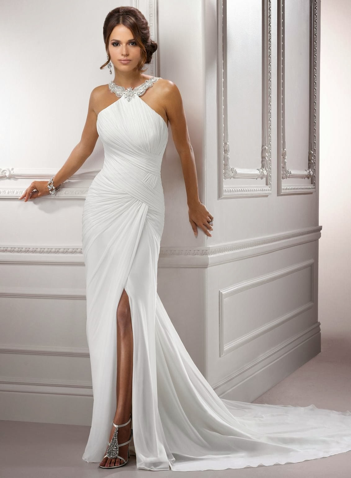 Short form fitting wedding dresses 2014 2015 fashion for Simple form fitting wedding dresses