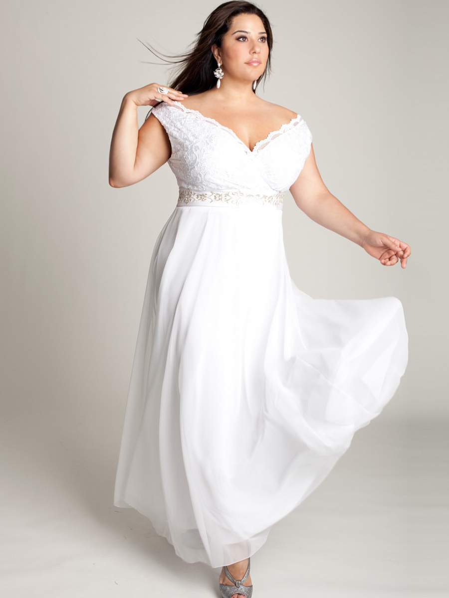 White Plus Size Wedding Dresses Under $100 : Short white dresses plus size fashion trends