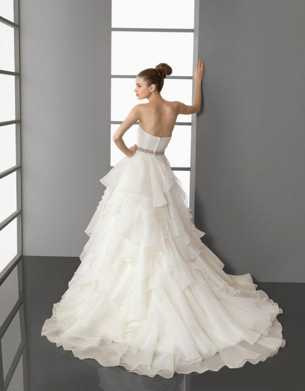Silk organza wedding dresses 2014 2015 fashion trends for Silk organza wedding dress