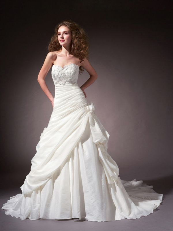 vintage wedding dresses sweetheart neckline 2014 2015 fashion trends