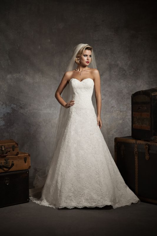 Wedding dress styles for petite brides 2014 2015 fashion for Petite bride wedding dress