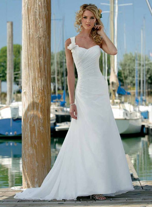 Wedding dresses beach ceremony 2014 2015 fashion trends for Wedding dress for beach ceremony